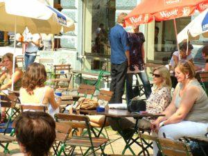 Cafe i Hamborg